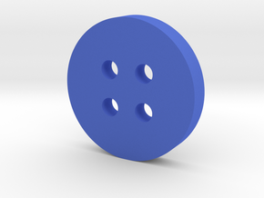 Rounded Inset Button in Blue Processed Versatile Plastic