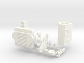 HPI VENTURE 4BT CUMMINS/MOTOR COVER in White Strong & Flexible Polished