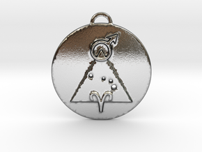 Aries talisman in Polished Silver