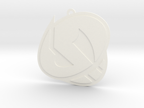 Team Skull Pendant in White Processed Versatile Plastic