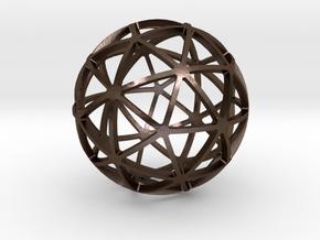 PENTAKIS_DODECAHEDRON in Polished Bronze Steel
