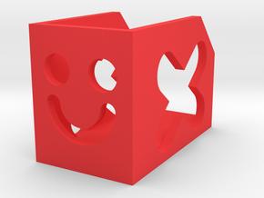 Smile Bookshelf in Red Processed Versatile Plastic: Small