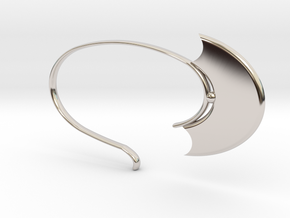 Oval Hoop (SWH5a) in Rhodium Plated Brass