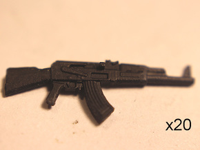 28mm AK47 in Smoothest Fine Detail Plastic
