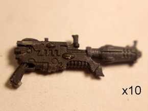 28mm Space elf blasters (10) in Frosted Extreme Detail