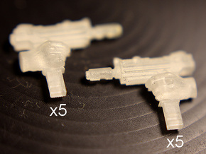 28mm SciFi gang automatic pistols in Smoothest Fine Detail Plastic