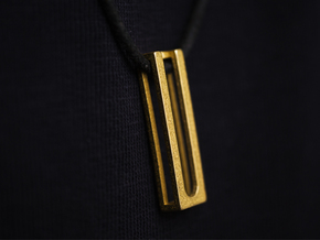 Minimal ease.d Pendant 2/4 in Polished Gold Steel