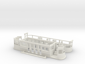Eastbourne Tramway Car 7 in White Natural Versatile Plastic