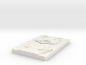 Pig footprints in White Natural Versatile Plastic
