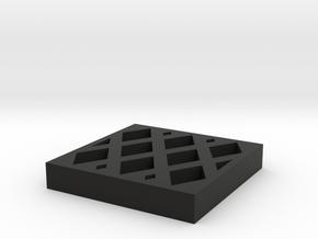 杯墊.stl in Black Premium Versatile Plastic