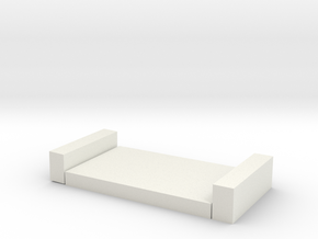 單人百變床架.stl in White Natural Versatile Plastic