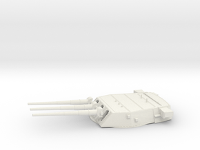 1/192 BB59 16 in (410 mm)/45 caliber Mark 6 gun 1 in White Natural Versatile Plastic