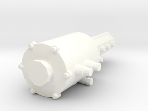 Oil sump 1/12  external in White Processed Versatile Plastic