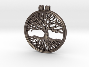 The Tree Of Life in Polished Bronzed Silver Steel
