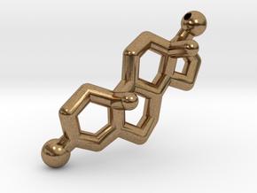 Testosterone Hormone Pendant in Natural Brass