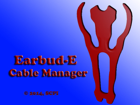earbud-E cord manager in Red Processed Versatile Plastic