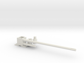 rock o plane shafts, motor mount and connectors in White Natural Versatile Plastic