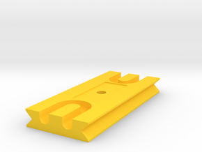 Tetherplate 90mm for DSLR camera's in Yellow Processed Versatile Plastic