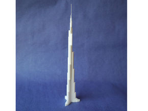 Burj Khalifa in White Strong & Flexible