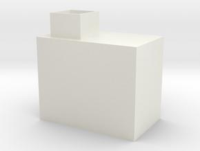 Shoebox in White Natural Versatile Plastic
