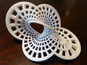 Round Möbius Strip in White Natural Versatile Plastic