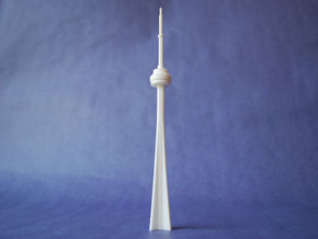 CN Tower in White Strong & Flexible