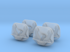 1/100 DKM Anchor Bolster Set x4 in Smooth Fine Detail Plastic