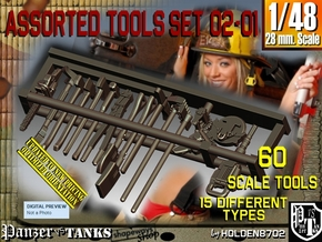 1/48 Assorted Tools Set02-01 in Smooth Fine Detail Plastic