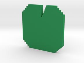 pixel Lotus leaves  in Green Processed Versatile Plastic