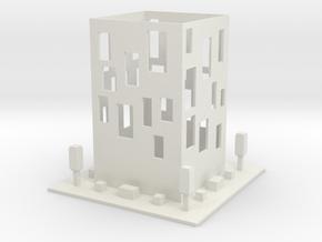cube Building in White Natural Versatile Plastic: Medium