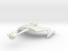 2500 Klingon D-7M K'T'inga class in White Natural Versatile Plastic