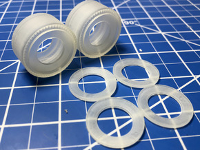 1/25th Scale Pie Crust Whitewall Slicks- Drag Tire in Smooth Fine Detail Plastic