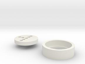 "Korbanth K4 7/8"" Neopixel Adapter in White Natural Versatile Plastic"