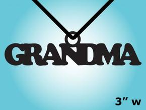 Grandma Necklace Charm in Natural Silver