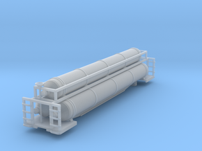 Helium 3 Tube Car Z scale in Smooth Fine Detail Plastic