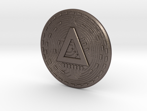 ERC20 Token - AladdinCoin in Polished Bronzed Silver Steel