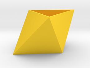 Triangular Planter in Yellow Processed Versatile Plastic