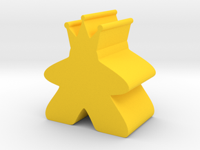 King Meeple King Sized in Yellow Strong & Flexible Polished