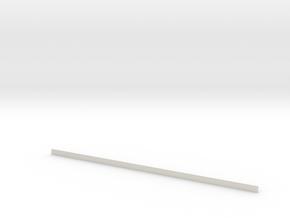 Skirting board in White Natural Versatile Plastic