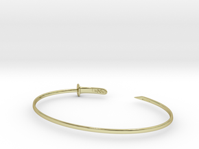 Zanpakuto bracelet in 18k Gold Plated Brass