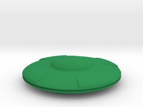 Flying Saucer in Green Processed Versatile Plastic