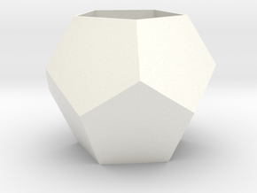 Dodecahedron Planter in White Processed Versatile Plastic