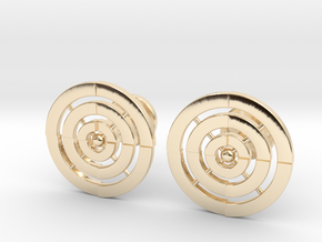 Adinkrahene Cufflinks in 14k Gold Plated Brass