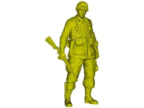 1/24 scale D-Day US Army 101 Airborne soldier in Smooth Fine Detail Plastic