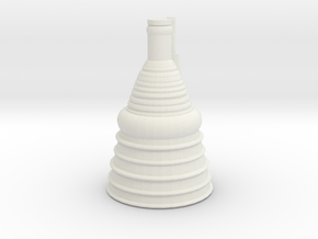 1/144 Scale F-1 Engine in White Natural Versatile Plastic
