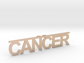 cancer & C in 14k Rose Gold Plated Brass
