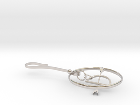 Bow arrow in Rhodium Plated Brass