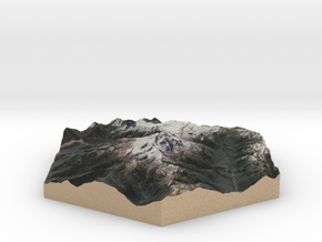 Model of Glacier Peak, WA (10cm, Full-Color) in Full Color Sandstone