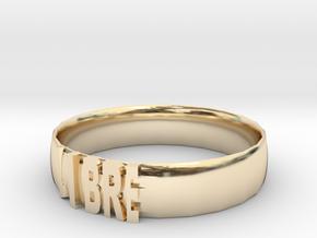 LIBRE Bracelets in 14k Gold Plated Brass