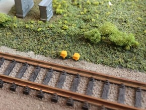 N Scale 10 Track Connection Boxes in Smooth Fine Detail Plastic